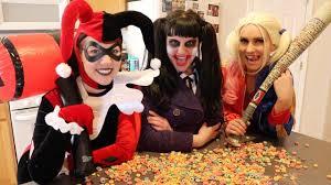 Joker And Harley Quinn Halloween Costumes by Frozen Elsa Vs Harley Quinn Vs Joker U0026 Blue Spiderman Food