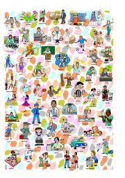 i spy occupations poster and criss cross worksheet words and pictures