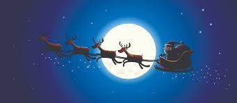 cartoon santa claus and elk vector free vector 4vector