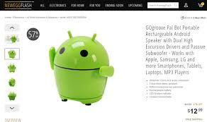 android bluetooth speaker deal alert newegg is selling the adorable gogroove pal bot