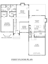 house plan with first floor master bedroom