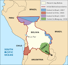 Maps O A Map Of Bolivia U0027s Historical Territorial Losses Maps Of South