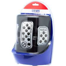 sparco pedal pads urban aluminium black rubber manual