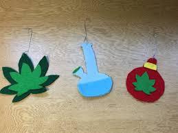 diy marijuana themed kushmas ornaments chronic crafter