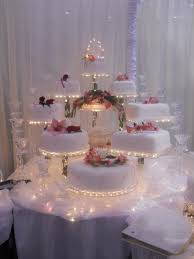 elegant wedding cakes with fountains the above crystal lighted