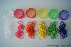 hair rubber bands nest of eggs hair rubber band color coded storage