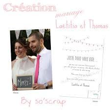 faire part de remerciement mariage carte remerciements mariage laëtitia