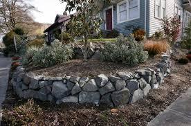 Rock Garden Seattle Seattle Retaining Walls Boulder Stack Rockeries Ecoyards