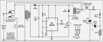 simple doorbell controlled porchlight circuit diagram electronic