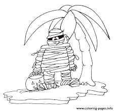 mummy halloween colouring pages kids colour8f80 coloring