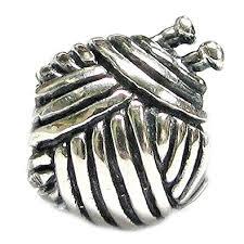 european sterling silver charm bracelet images Sterling silver knitting wool ball bead for european jpg