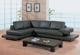 Affordable Mid Century Modern Sofas Living Room Contemporary Dark Brown Leather Sectional Sofa