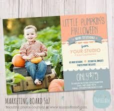 halloween photography marketing board mini por paperlarkdesigns
