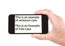 when to use uppercase or capital letters