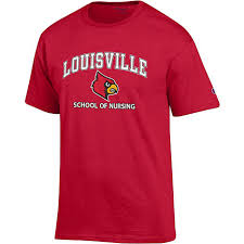 nursing shirt of louisville cardinals school of nursing sleeve