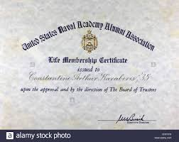 of alumni search us naval academy alumni association certificate stock photo