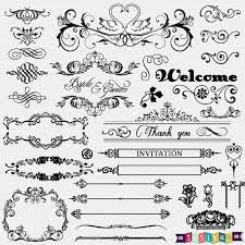 free sle wedding programs instant vintage ornament flower calligraphy digital clip