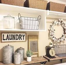Decorated Laundry Rooms Chic Easy Farmhouse Laundry Makeover For Less Than 100 Lettered