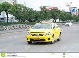 yellow toyota yellow toyota corolla altis taxi editorial stock photo image