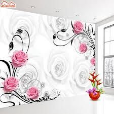 compare prices on red flower wall paper online shopping buy low