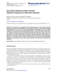eye safety related to near infrared radiation exposure to