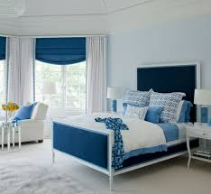 White Bedroom With Blue Accents Bedroom Design Ideas - Blue and black bedroom designs