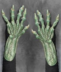 Halloween Costume Gloves Evil Witch Hag Hands Claws Scary Halloween Costume