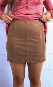 boutique femme free modern femme vegan suede mini skirt beige cheeky