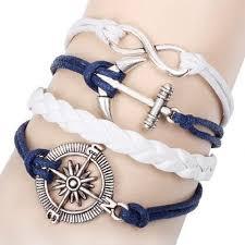 leather bracelet with cross images Charm vintage multilayer charm leather bracelet women owl cross jpg
