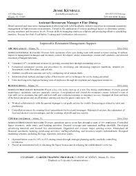 bar manager resume sample professional assistant restaurant