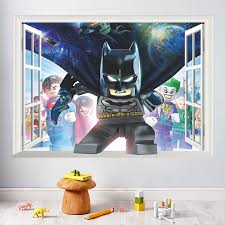 u0026 cartoon animation batman windows wall stickers bedroom kids room
