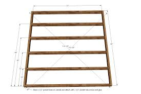 How To Attach A Footboard To A Bed Frame Ana White King Size Fancy Farmhouse Bed Diy Projects