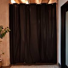 Tension Pole Room Divider Roomdividersnow Muslin Tension Rod Room Divider Kit Walmart Com