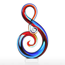 music note home decor best and cheap multicolored tooarts music note glass sculpture