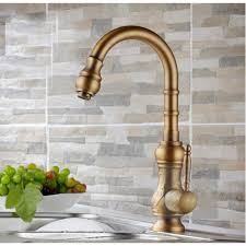 kitchen faucet brass antique brass kitchen sink faucet with and cold mixer