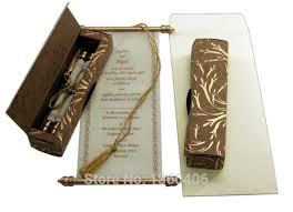 indian wedding invitations scrolls scroll wedding invitations card wholesale party wedding india gold