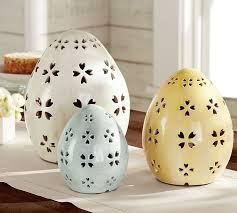 ceramic easter eggs pierced ceramic eggs pottery barn