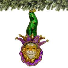 mardi gras ornaments mardi gras glass ornament green hat