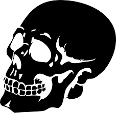 halloween wall art this scary human skull silhouette wall sticker will add a gothic