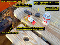 how to install a natural gas shutoff valve for a grill
