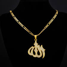 real gold necklace designs images 2018 new trendy islamic jewelry gold colour rhinestone crystal jpg