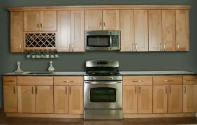 dramatic and elegant side of maple kitchen cabinets