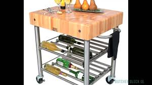 kitchen carts made of butcher block stainless steel u0026 hardwood