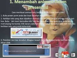 cara membuat powerpoint berjalan power point 2007 bab 1 6