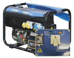sdmo technic 6500e avr uk generator with manual power transfer switch