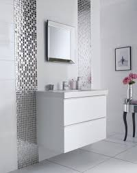 Modern Bathroom Vanity by Bathroom Mesmerizing Mirrored Tile Backsplash With White Floating