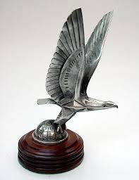1925 brau deco eagle car mascot hood ornament car mascots