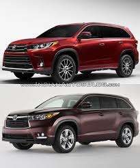 cars toyota 2017 2017 toyota highlander vs 2014 toyota highlander in images