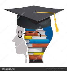 graduation books graduation books stylized student glasses books