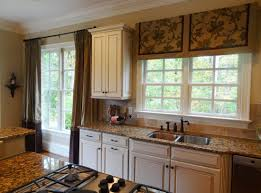 white and black kitchen curtains glass door cabinet le faucet